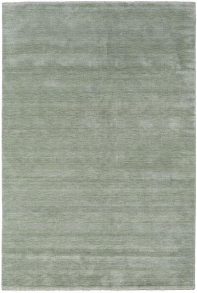 Handloom Fringes - Soft Teal Teppich  200X300 Moderner Hell Grün/Dunkelgrau (Wolle, Indien)