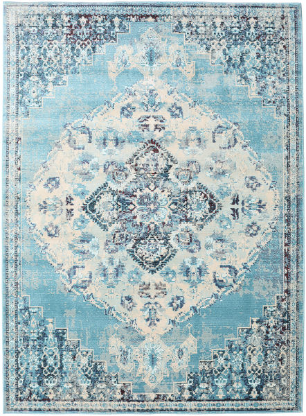 Turid - Blau Teppich  160X230 Moderner Hellblau/Weiß/Creme ( Türkei)