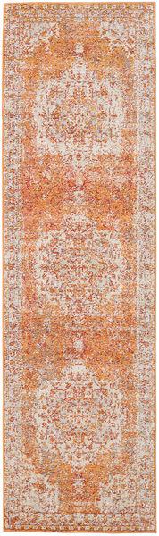 Nadia - Orange Teppich  80X300 Moderner Läufer Dunkelbraun/Rost/Rot ( Türkei)