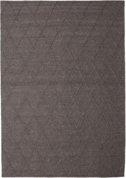 Svea - Dunkelbraun Teppich  250X350 Echter Moderner Handgewebter Braun/Dunkelbraun Großer (Wolle, Indien)