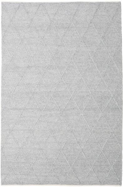 Svea - Silbergrau Teppich  200X300 Echter Moderner Handgewebter Hellgrau/Weiß/Creme (Wolle, Indien)