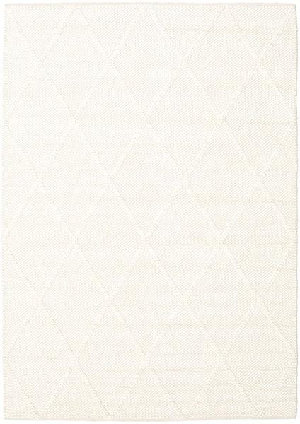 Svea - Ivory Teppich  140X200 Echter Moderner Handgewebter Beige (Wolle, Indien)