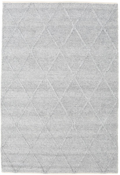 Svea - Silbergrau Teppich  140X200 Echter Moderner Handgewebter Hellgrau/Weiß/Creme (Wolle, Indien)