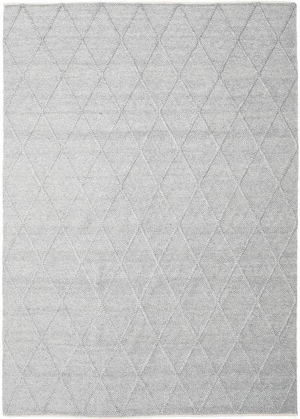 Svea - Silbergrau Teppich  250X350 Echter Moderner Handgewebter Hellgrau/Weiß/Creme Großer (Wolle, Indien)