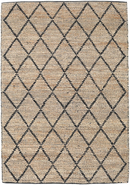Outdoor-Teppich Serena Jute - Natural/Schwarz Teppich  160X230 Echter Moderner Handgewebter Hellgrau/Hellbraun (Jute-Teppich Indien)