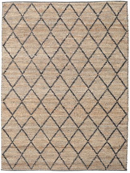 Outdoor-Teppich Serena Jute - Natural/Schwarz Teppich  200X300 Echter Moderner Handgewebter Hellgrau/Hellbraun (Jute-Teppich Indien)