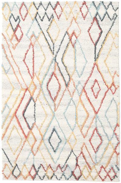 Naima - Multi Teppich  200X300 Echter Moderner Handgewebter Beige/Weiß/Creme (Wolle, Indien)