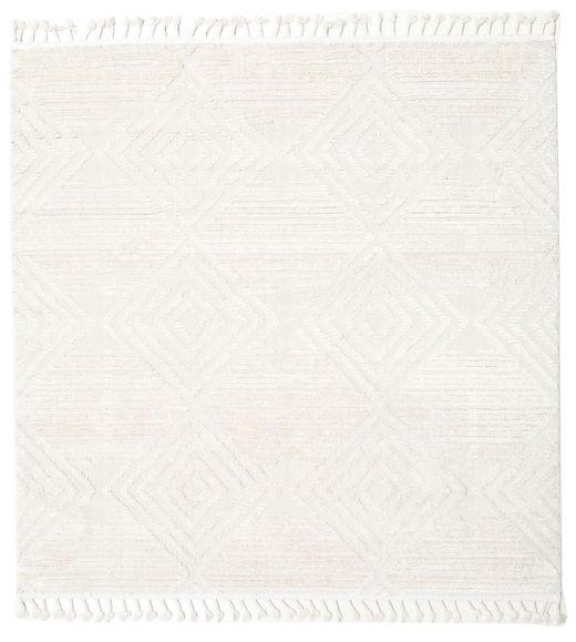 Taj - Cream Teppich  200X200 Moderner Quadratisch Beige/Weiß/Creme ( Türkei)