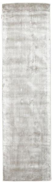 Broadway - Silber Weiß Teppich  80X300 Moderner Läufer Hellgrau/Beige ( Indien)