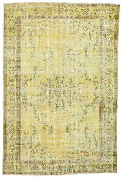 Colored Vintage Teppich  177X265 Echter Moderner Handgeknüpfter Gelb/Hell Grün (Wolle, Türkei)
