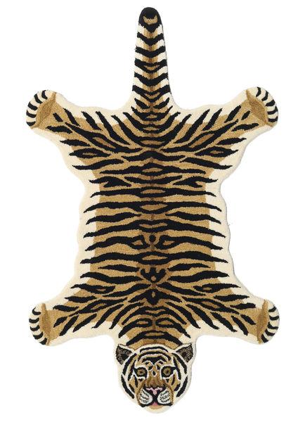 Tiger - Beige Teppich  100X160 Moderner Dunkelblau/Hellbraun (Wolle, Indien)