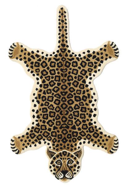 Leopard - Beige Teppich  100X160 Moderner Beige/Schwartz (Wolle, Indien)