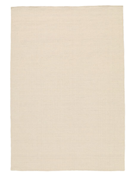 Kelim Loom - Natural Teppich  140X200 Echter Moderner Handgewebter Dunkel Beige/Beige (Wolle, Indien)