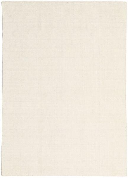 Kelim Loom - Natural Teppich  160X230 Echter Moderner Handgewebter Dunkel Beige/Beige (Wolle, Indien)