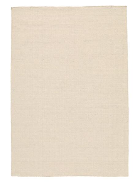 Kelim Loom - Natural Teppich  300X400 Echter Moderner Handgewebter Dunkel Beige/Beige Großer (Wolle, Indien)