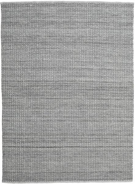 Alva - Grau/Schwarz Teppich  250X350 Echter Moderner Handgewebter Hellgrau/Dunkelgrau Großer (Wolle, Indien)