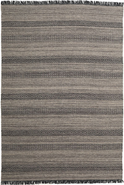 Hedda - Braun Teppich  220X320 Echter Moderner Handgewebter Dunkelgrau/Hellgrau (Wolle, Indien)