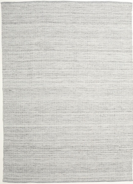 Alva - Grau/Weiß Teppich  250X350 Echter Moderner Handgewebter Hellgrau Großer (Wolle, Indien)