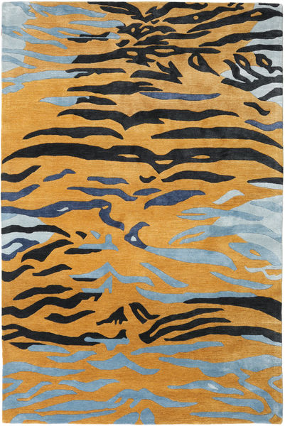 Love Tiger - Orange/Grau Teppich  200X300 Moderner Hellbraun/Schwartz ( Indien)