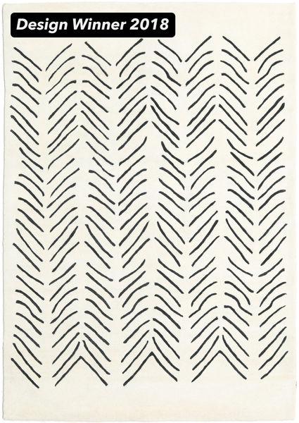 Scandic Lines - 2018 Teppich  160X230 Moderner Beige/Dunkelgrau (Wolle, Indien)