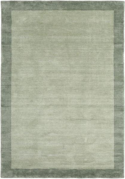 Handloom Frame - Grau/Grün Teppich  160X230 Moderner Hell Grün/Lindgrün (Wolle, Indien)