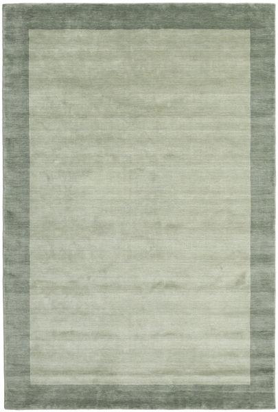 Handloom Frame - Grau/Grün Teppich  200X300 Moderner Hell Grün/Lindgrün (Wolle, Indien)