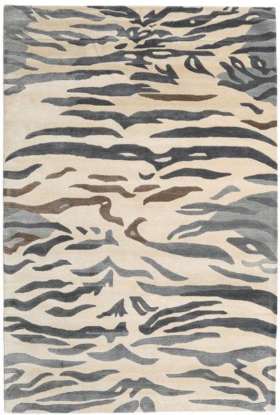 Love Tiger - Grau Teppich  200X300 Moderner Beige/Hellgrau ( Indien)
