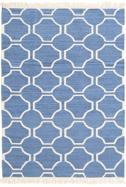 London - Blau/Naturweiß Teppich  120X180 Echter Moderner Handgewebter Blau/Beige (Wolle, Indien)