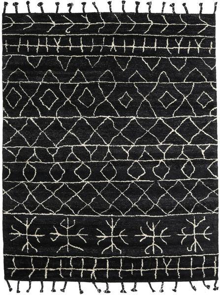 Moss Berber - Schwarz Teppich  240X300 Echter Moderner Handgeknüpfter Schwartz/Dunkelgrau (Wolle, Indien)