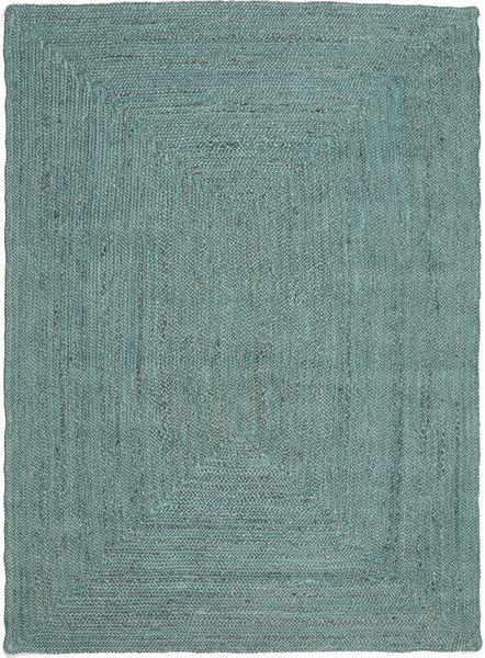 Outdoor-Teppich Frida Color - Türkis Teppich  160X230 Echter Moderner Handgewebter Türkisblau/Türkisblau (Jute-Teppich Indien)