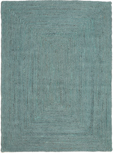 Outdoor-Teppich Frida Color - Türkis Teppich  140X200 Echter Moderner Handgewebter Türkisblau/Türkisblau (Jute-Teppich Indien)