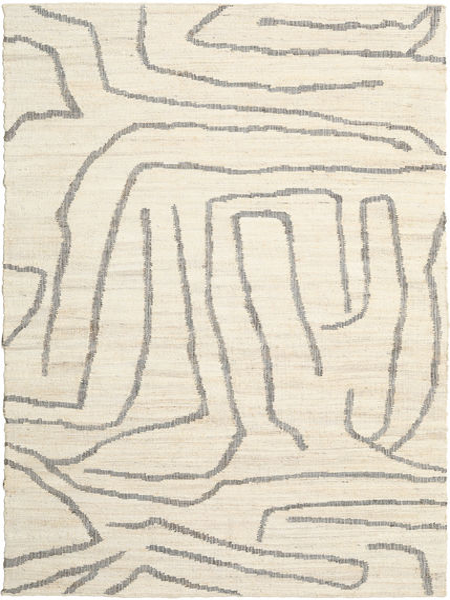 Outdoor-Teppich Native Teppich  200X300 Echter Moderner Handgewebter Beige/Hellgrau (Jute-Teppich Indien)