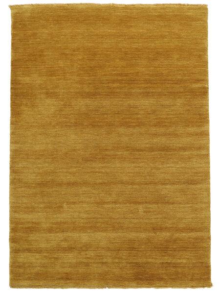 Handloom Fringes - Gelb Teppich  140X200 Moderner Hellbraun/Gelb (Wolle, Indien)