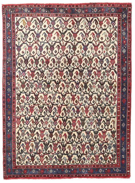 Afshar/Sirjan Teppich  127X168 Echter Orientalischer Handgeknüpfter Dunkelbraun/Beige (Wolle, Persien/Iran)