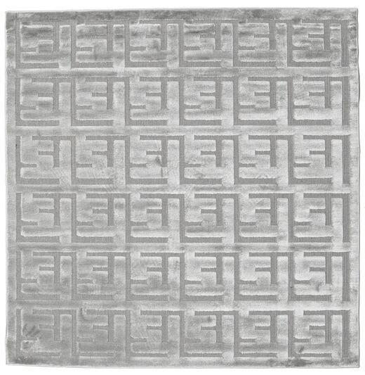 Dakari - Grau Teppich  200X200 Moderner Quadratisch Hellgrau ( Türkei)