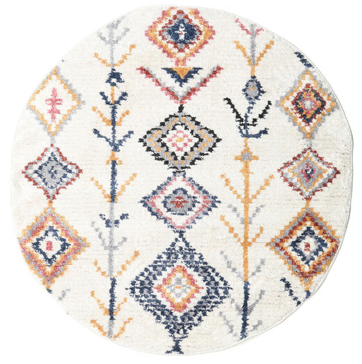 Rauma - Naturweiß Teppich  Ø 150 Moderner Rund Weiß/Creme/Beige ( Türkei)