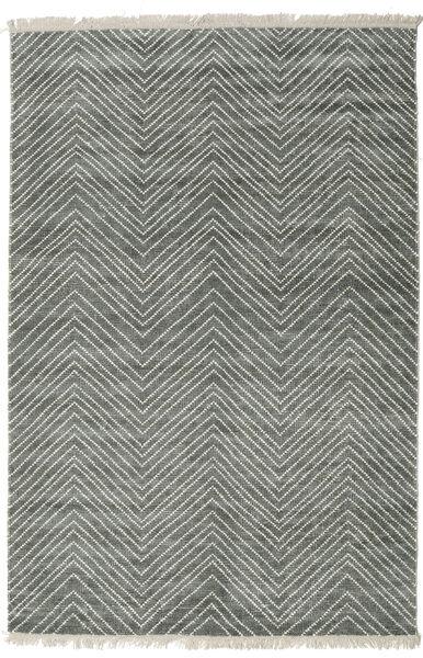 Vanice - Grau Grün Teppich  200X300 Echter Moderner Handgeknüpfter Hellgrau/Dunkelgrau ( Indien)