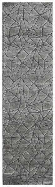 Patio - Grau Teppich  100X350 Moderner Läufer Dunkelgrau/Hellgrau ( Türkei)