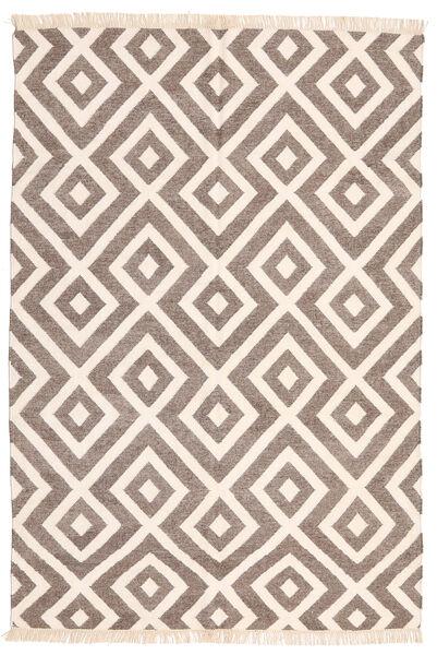 Bambus Seide Kelim Teppich  170X240 Echter Moderner Handgewebter Hellgrau/Beige (Wolle/Bambus-Seide, Indien)