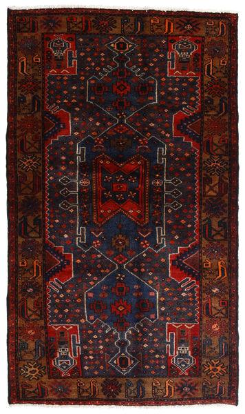 Hamadan Teppich  111X197 Echter Orientalischer Handgeknüpfter Dunkelrot (Wolle, Persien/Iran)