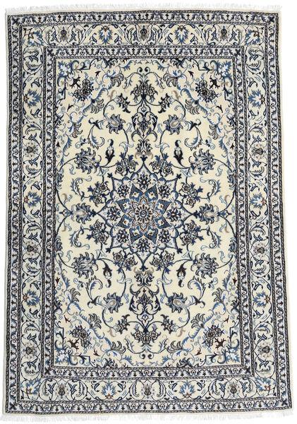 Nain Teppich  166X240 Echter Orientalischer Handgeknüpfter Weiß/Creme/Schwartz (Wolle, Persien/Iran)