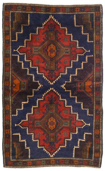 Belutsch Teppich  115X186 Echter Orientalischer Handgeknüpfter Dunkelrot/Schwartz (Wolle, Afghanistan)