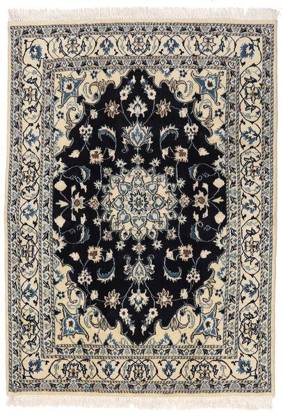 Nain Teppich  145X205 Echter Orientalischer Handgeknüpfter Dunkelgrau/Hellgrau (Wolle, Persien/Iran)