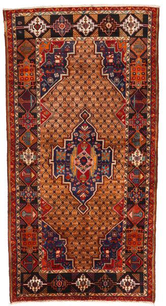 Koliai Teppich  130X255 Echter Orientalischer Handgeknüpfter Dunkelbraun/Rost/Rot (Wolle, Persien/Iran)