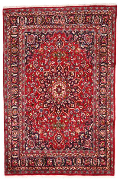 Maschad Teppich  197X280 Echter Orientalischer Handgeknüpfter Rot/Dunkelbraun (Wolle, Persien/Iran)