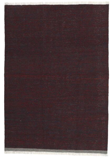 Kelim Teppich  101X146 Echter Orientalischer Handgewebter Dunkelrot/Dunkelbraun (Wolle, Persien/Iran)