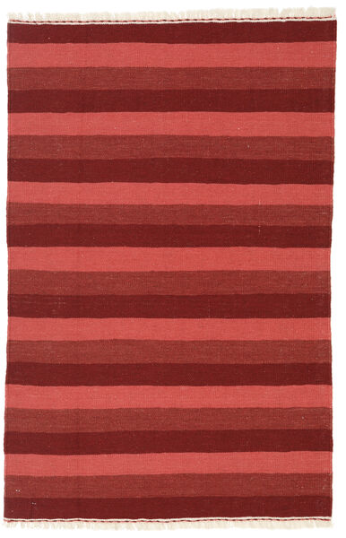 Kelim Teppich  102X155 Echter Orientalischer Handgewebter Dunkelrot/Rost/Rot (Wolle, Persien/Iran)