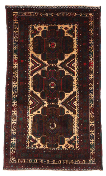 Belutsch Teppich  110X190 Echter Orientalischer Handgeknüpfter Dunkelbraun/Dunkelrot (Wolle, Afghanistan)