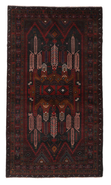 Belutsch Teppich  108X190 Echter Orientalischer Handgeknüpfter Dunkelbraun/Dunkelrot (Wolle, Afghanistan)