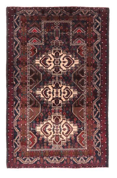 Belutsch Teppich  120X186 Echter Orientalischer Handgeknüpfter Dunkelbraun/Dunkelrot (Wolle, Afghanistan)